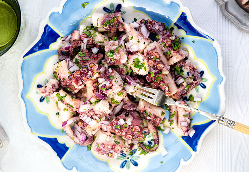 Simple marinated octopus salad | Bradley's